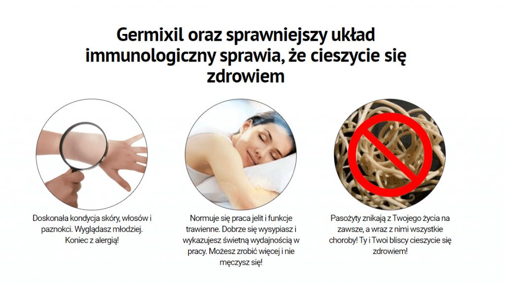 germixil jak działa efekty